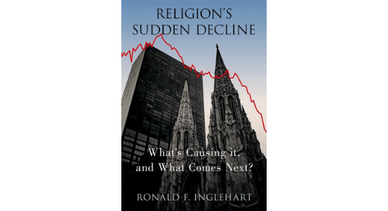 "Book cover of ""Religion's Sudden Decline"""